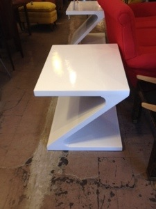 Z Shaped End Tables pair