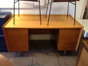 Jens Risom Bleach Wood Desk