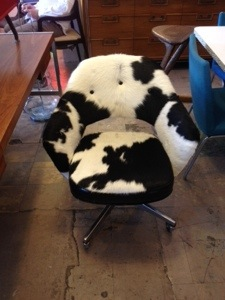 Eero Saarinen Desk Chair Cow Hide