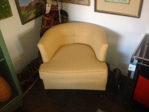 Yellow Barrel Back Chairs (2)