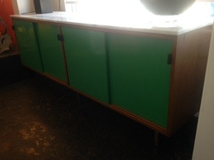 Knoll Credenza with marble Slab