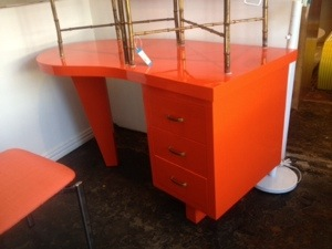 Orange Lacquered Desk