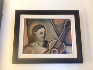 "Norman Baasch ""Guitar Player"" Painting"