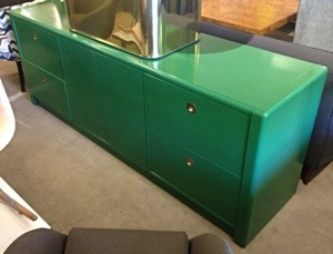 Green Lacquered Credenza