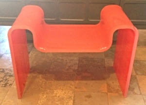 Orange Lucite Seat