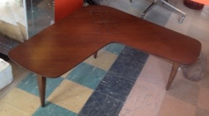 Boomerang Walnut Table