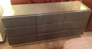 Gray Lacquered Dresser