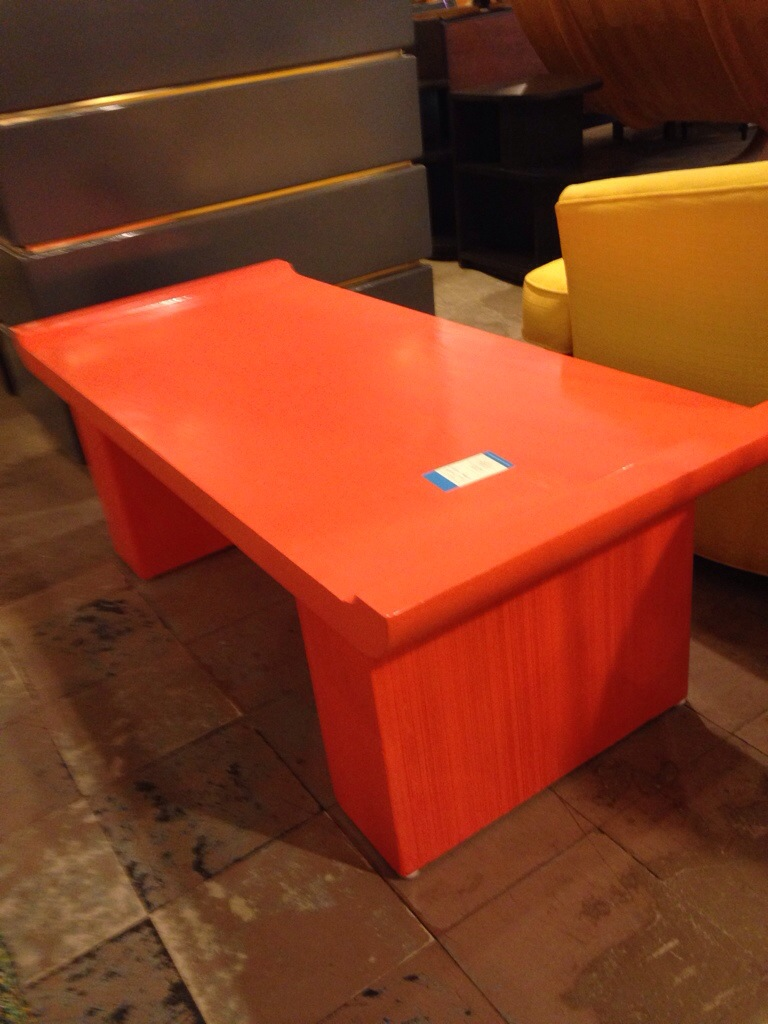 Paul Frankel Orange Lacquered Bench