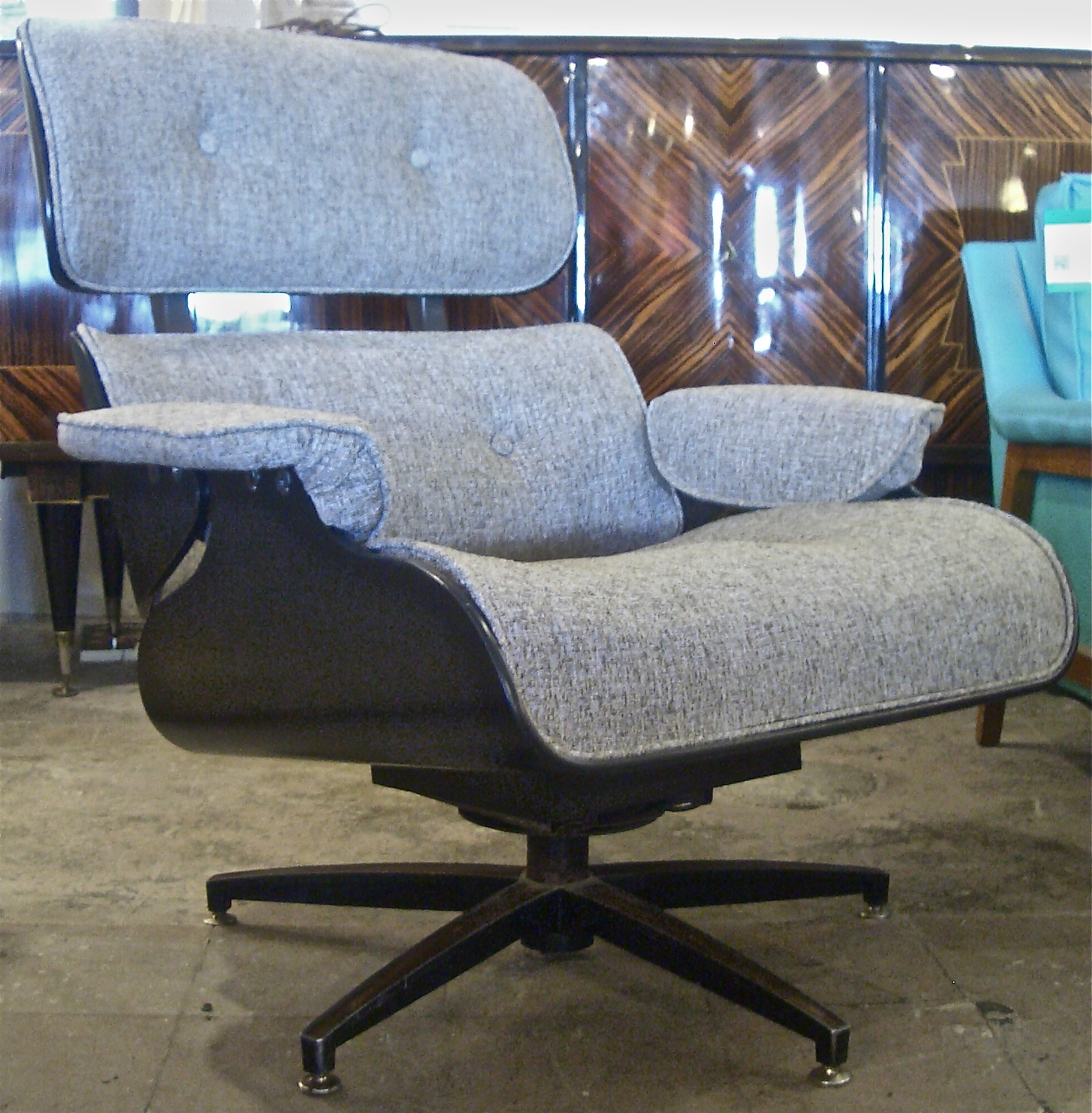 Incredible Plycraft Lounge Chair Ebonized Reupholstered Ibusinesslaw Wood Chair Design Ideas Ibusinesslaworg
