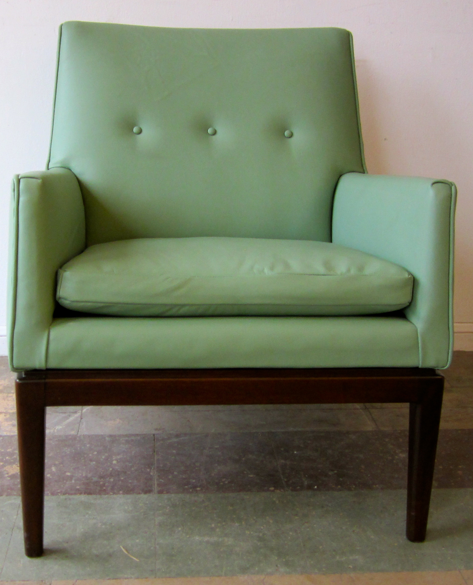 jade jens risom leather lounge chair reeves antiques mid century