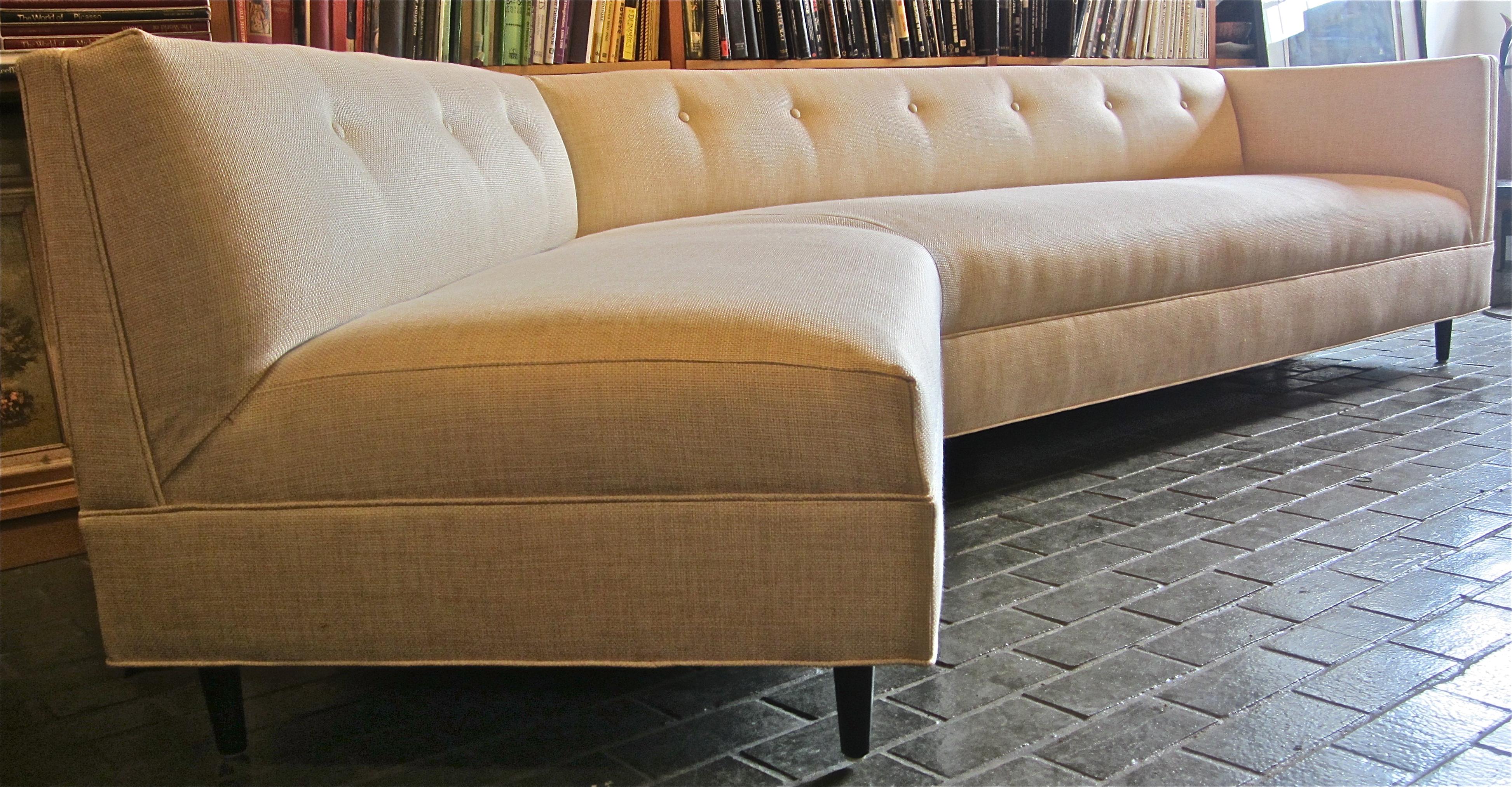Grand mid century modern sofa mid century modern for Mid century modern furniture houston
