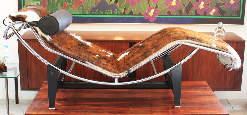 Inventory reeves antiques mid century modern furniture - Chaise lc1 le corbusier ...