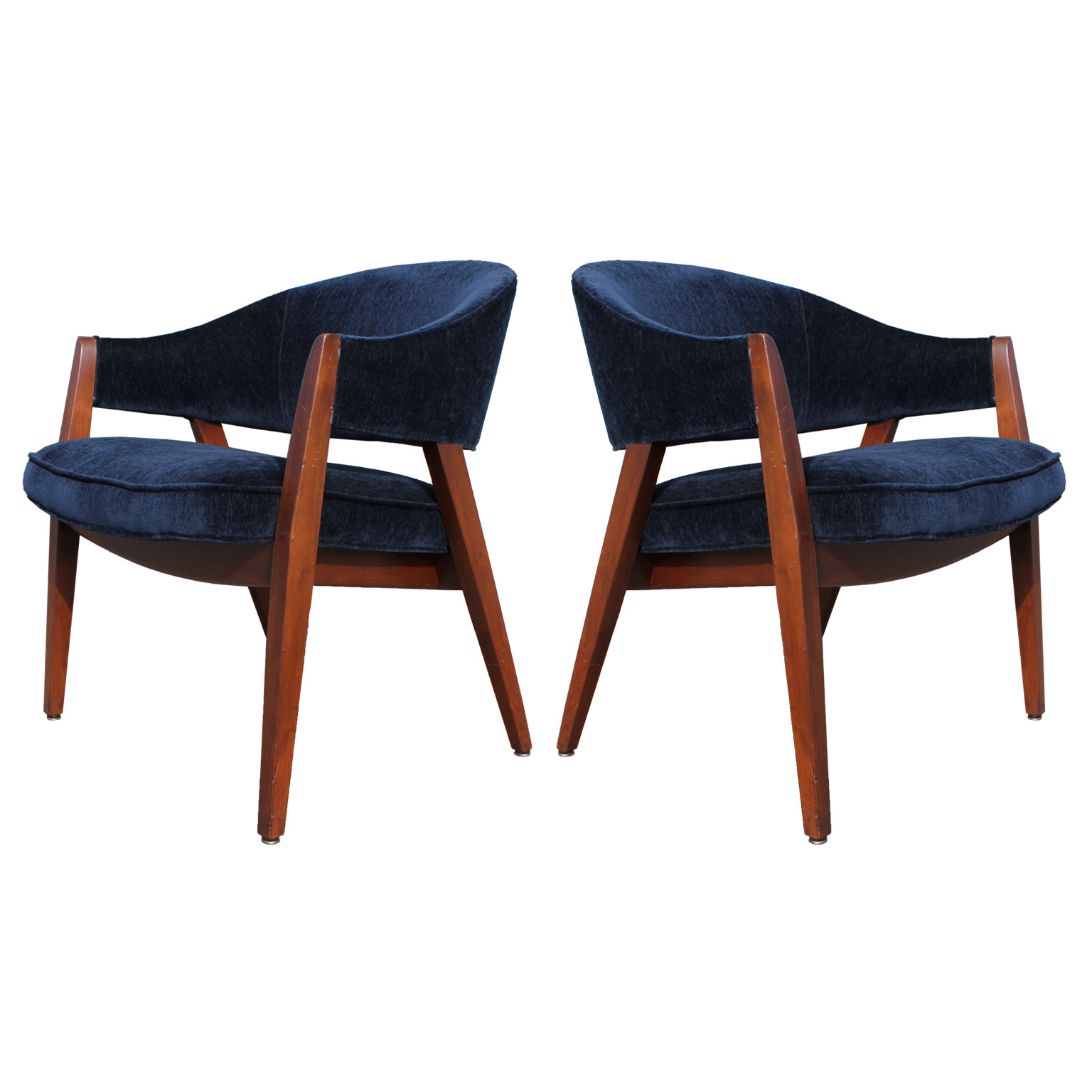 Pair of Blue Velvet Covered Side Chairs : blue chair pair5 from www.reevesantiqueshouston.com size 1536 x 1536 jpeg 229kB