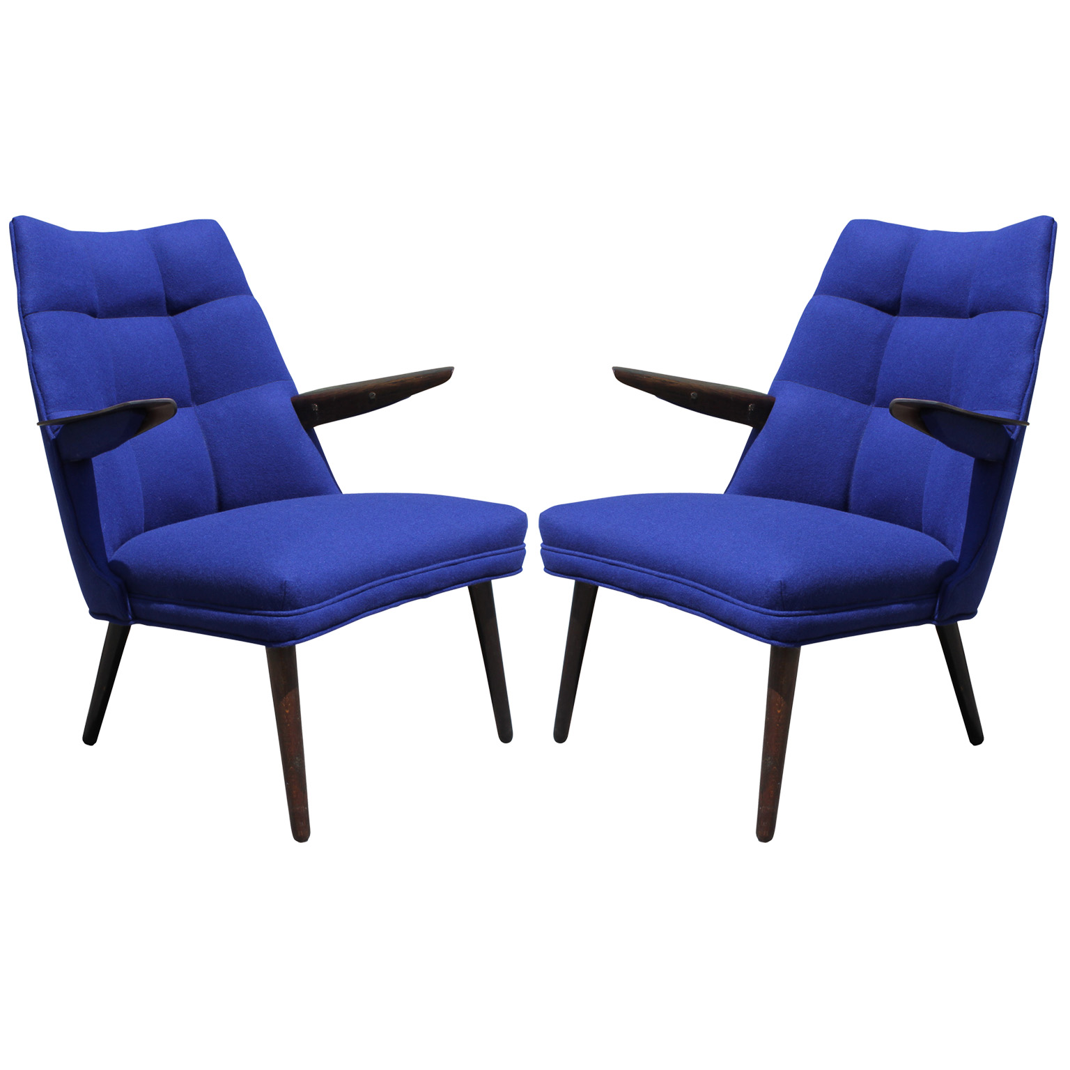 Pair of Blue Danish Style Armchairs : blue chairs7 from www.reevesantiqueshouston.com size 1536 x 1536 jpeg 252kB