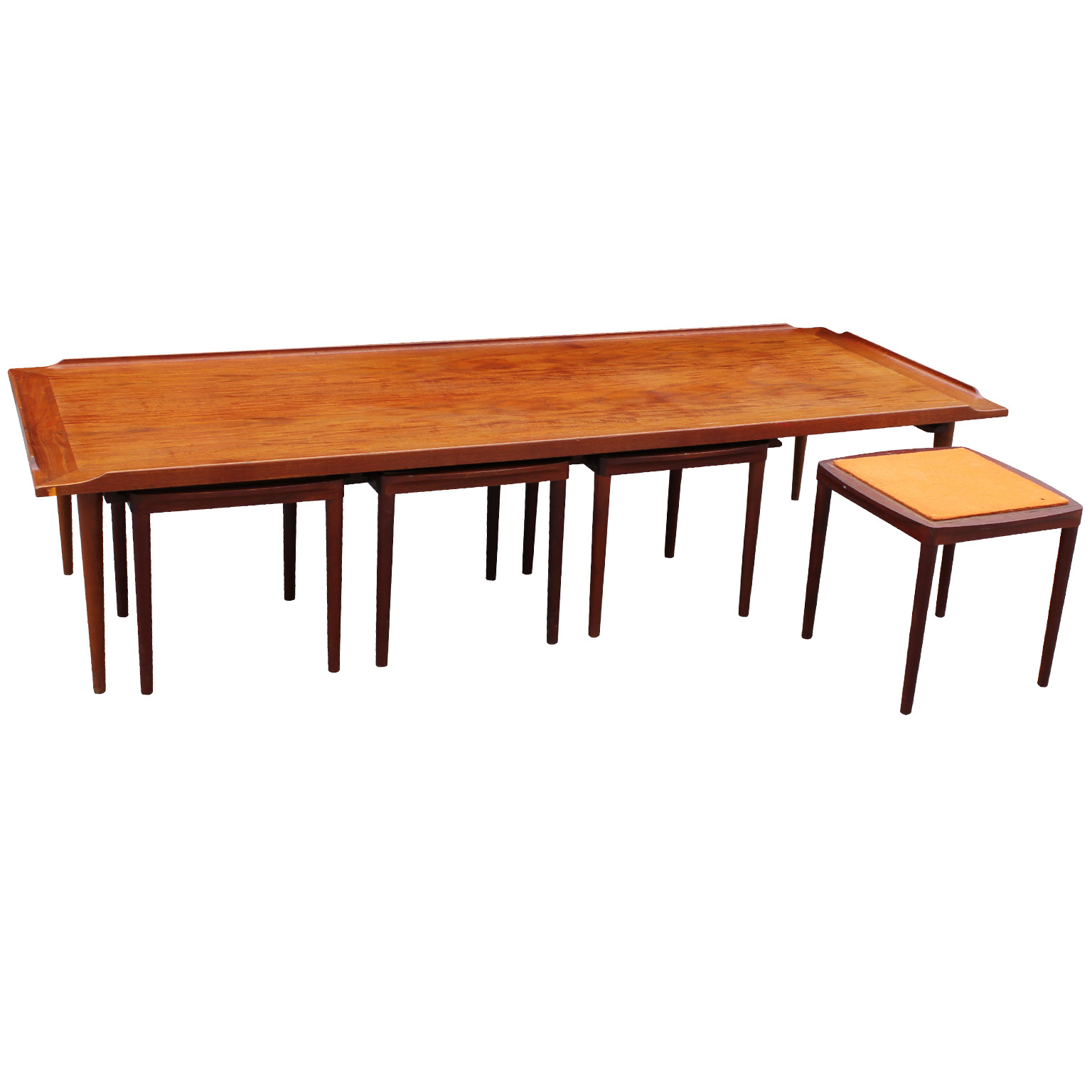 Fantastic Danish Coffee Table With Reversible Stools Tables