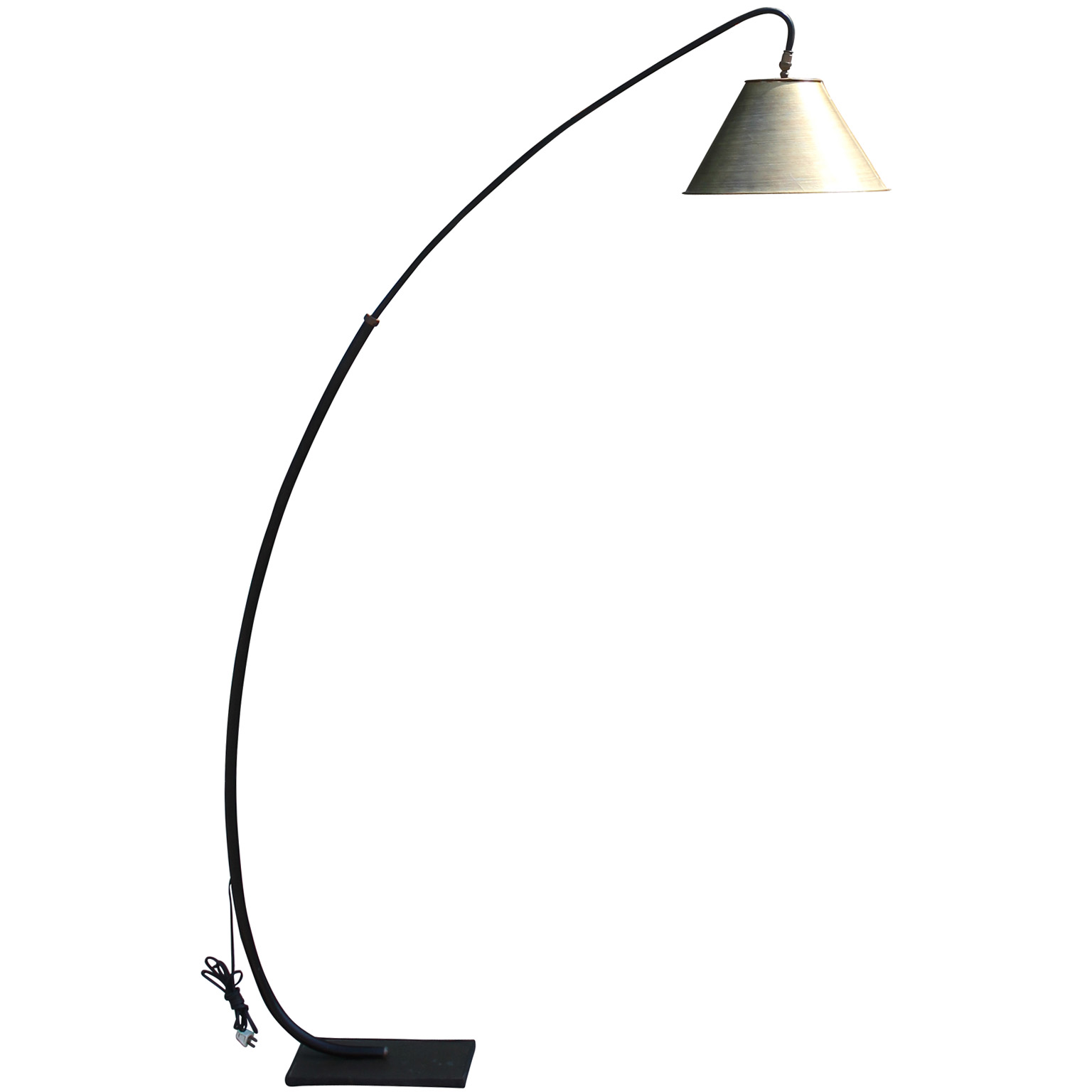 incredible curved italian style floor lamp