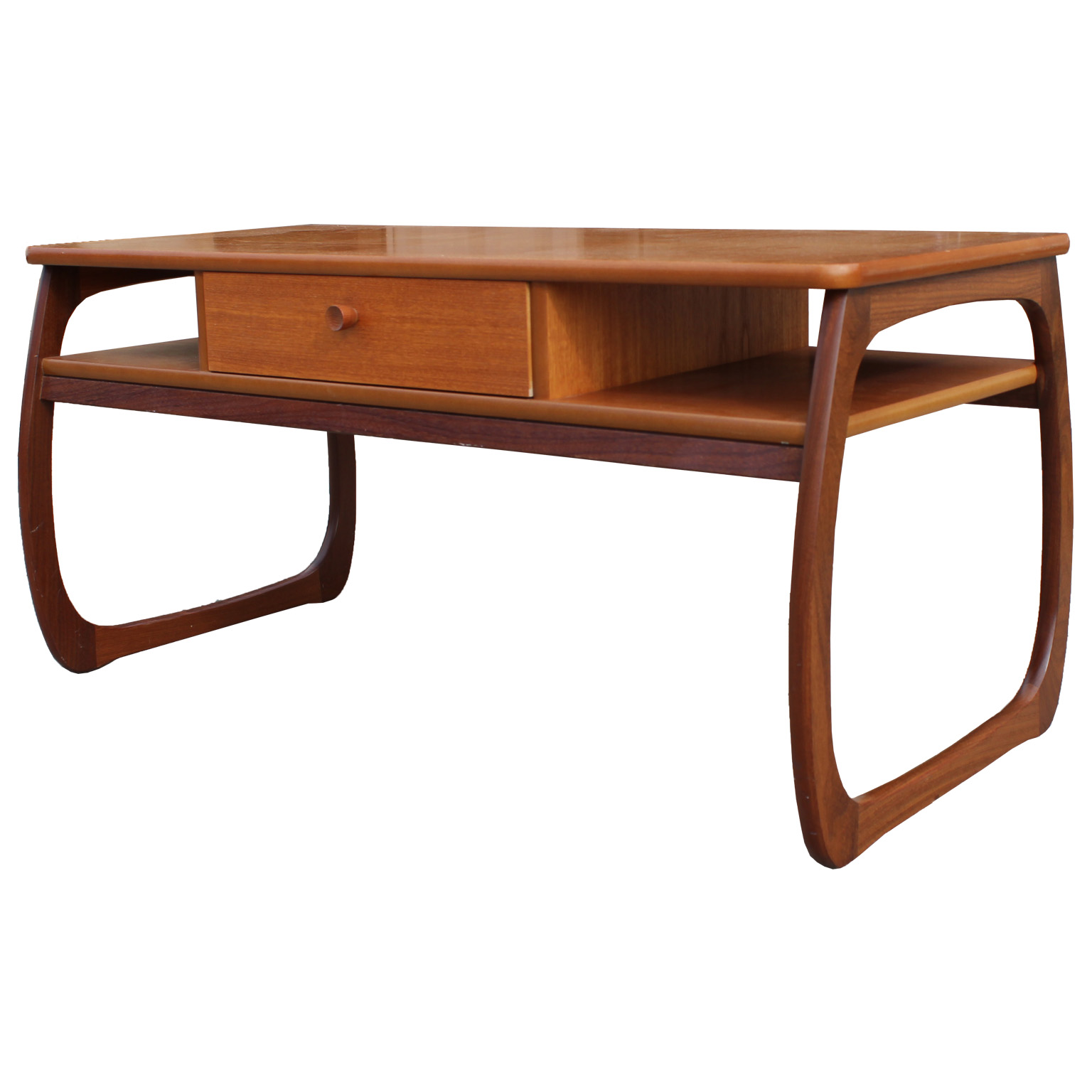 Mid century modern teak coffee table for Mid century modern coffee table
