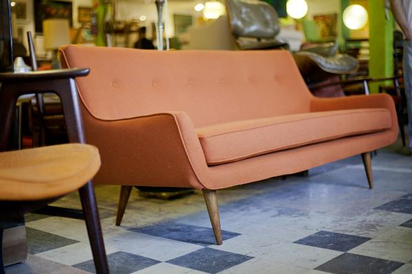 Mid Century Modern Restored Danish Sofa