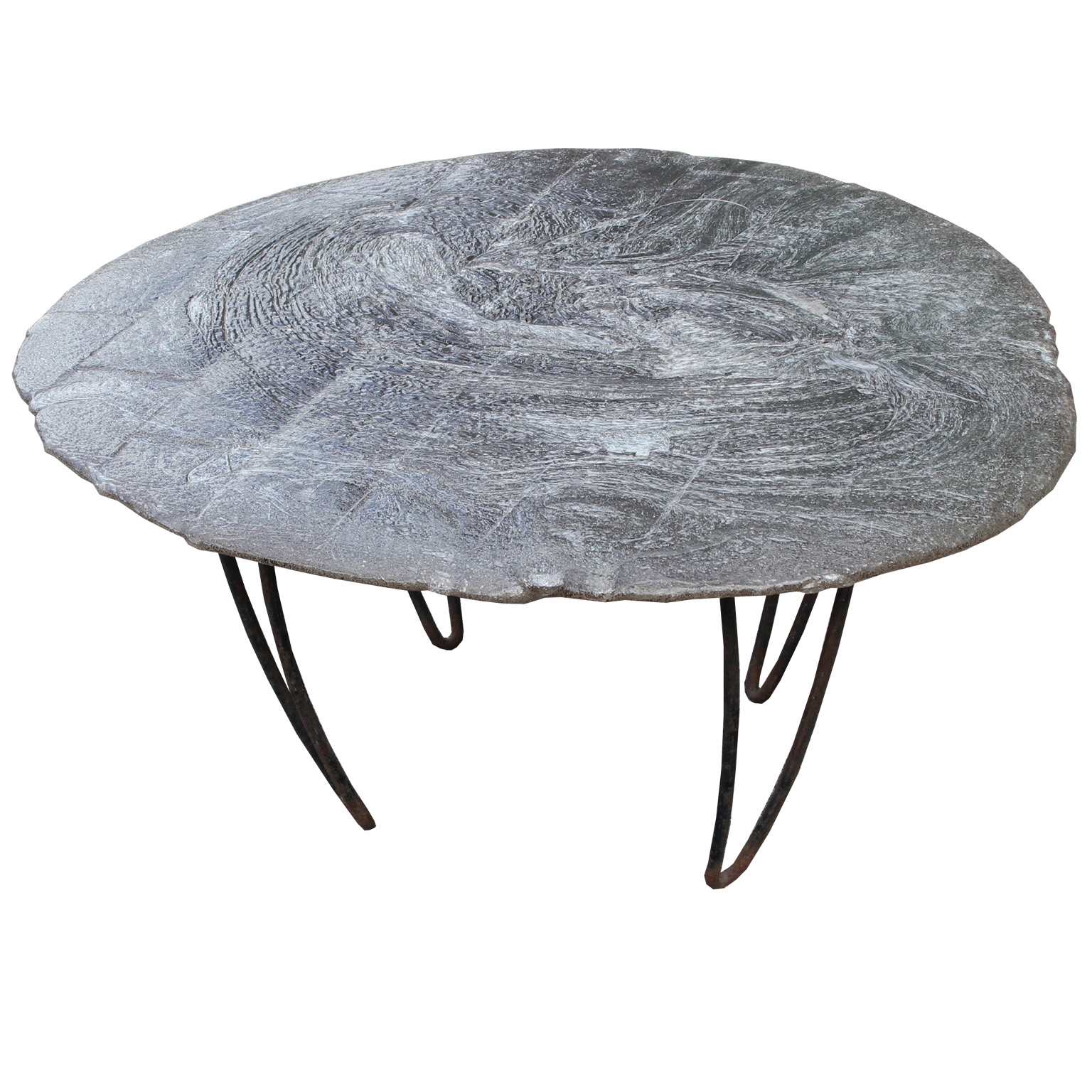 Resin Coffee Table With Hairpin Legs