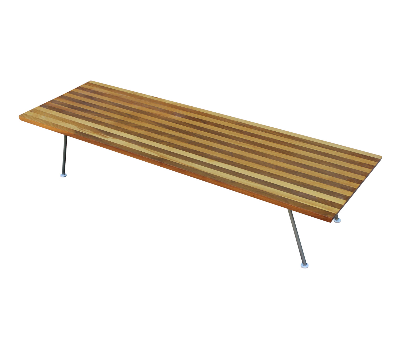 Unusual small coffee table with striped wood for Unusual tables
