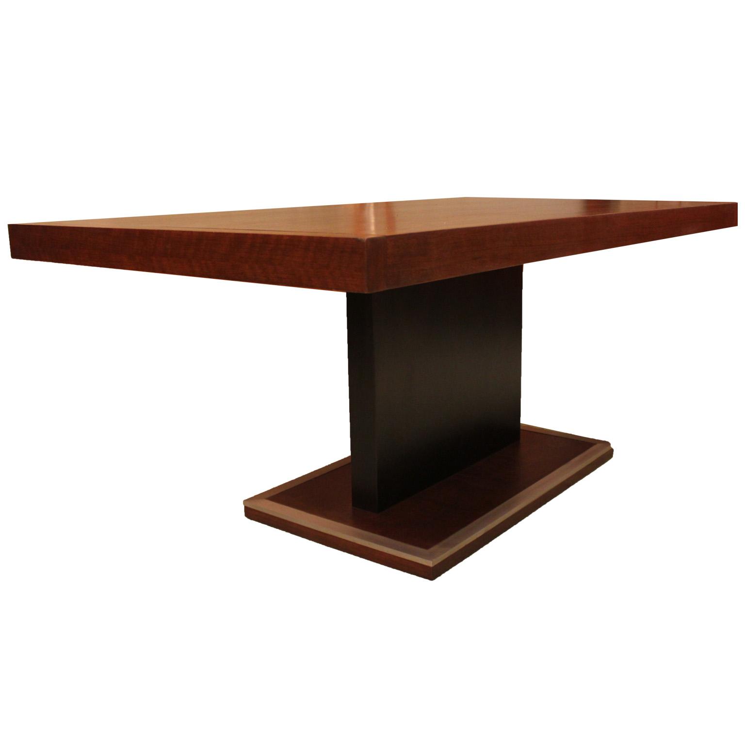 Milo Baughman Walnut Pedestal Dining Table