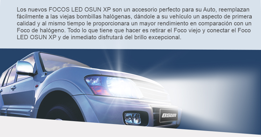 Kit De Focos Led Osun Xp Tipo Xenon Bulbos Faros Luces Auto en ...