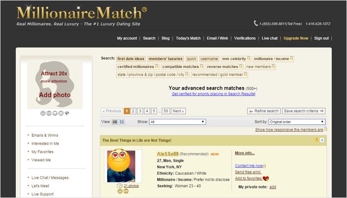 Millionaire match website