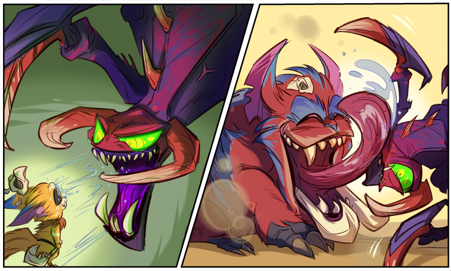 Zed League Of Legends Face Playtime with Gnar