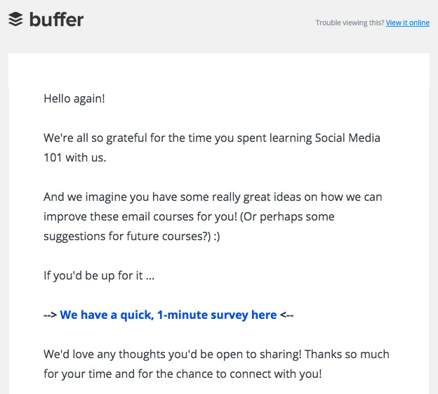 Buffer survey