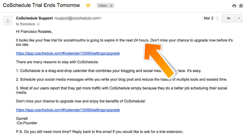 Coschedule re-engagement campaign