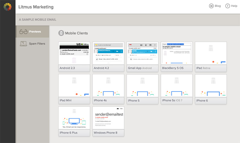 Email preview dashboard