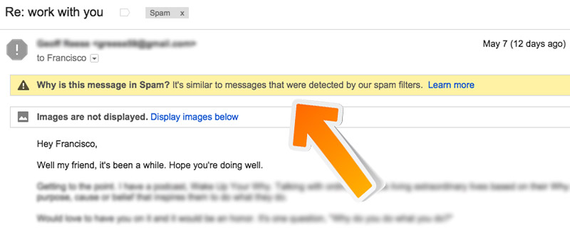 Marked as spam
