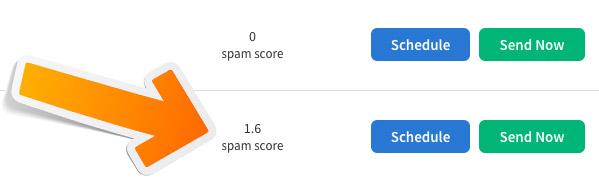 Aweber spam score