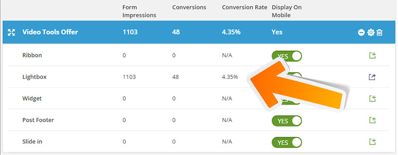 tracking conversion by form
