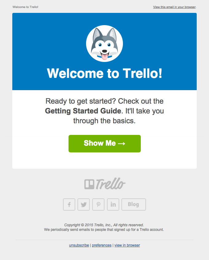 Welcome from Trello