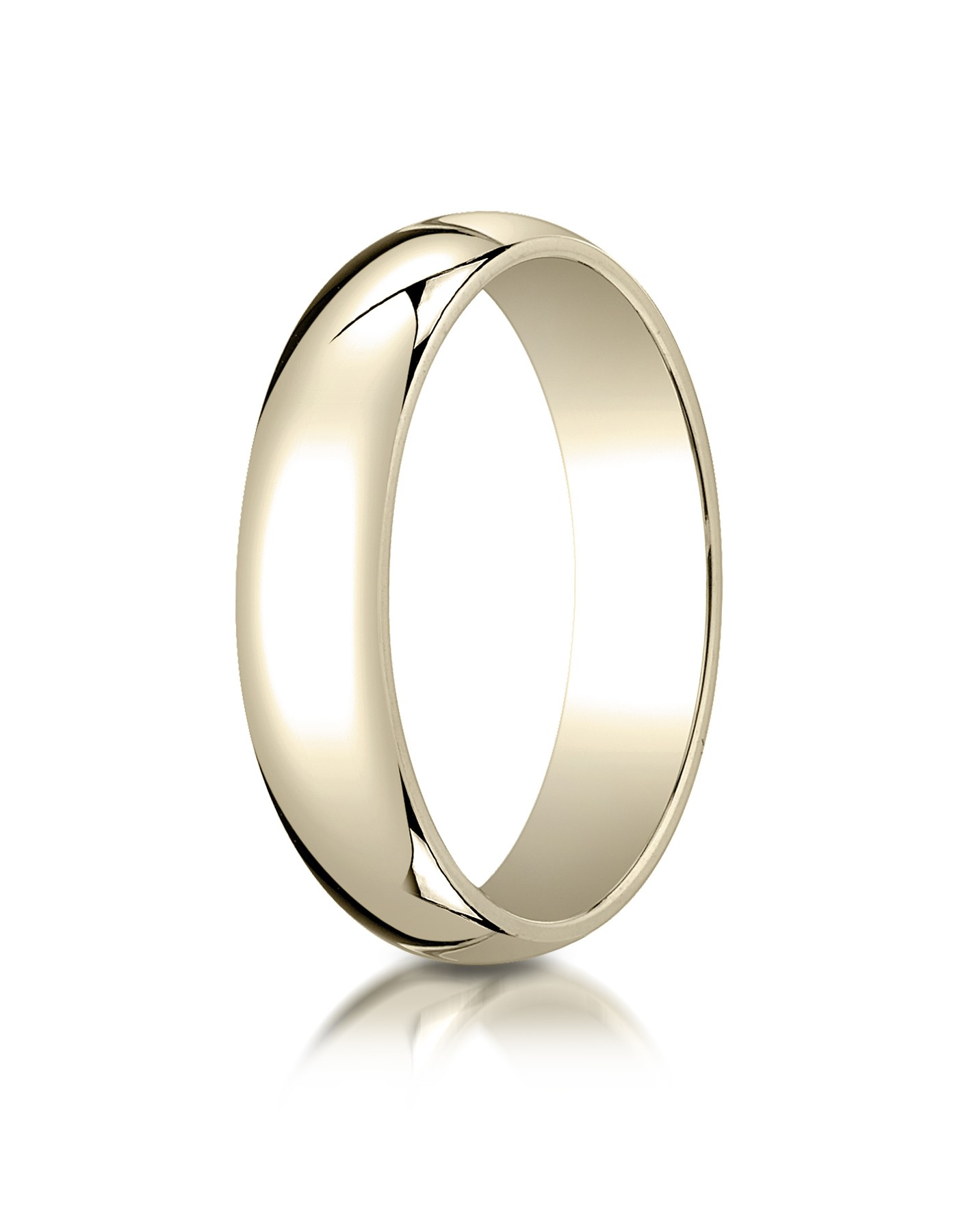 14k Yellow Gold 5mm Slightly Domed Traditional Oval Ring