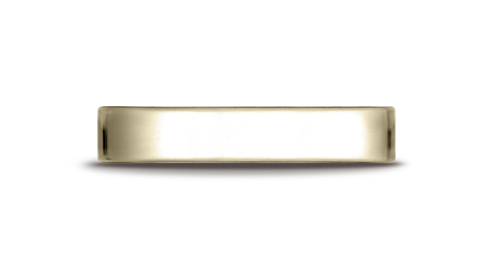 14k Yellow Gold 4.0 Mm Traditional Flat Ring