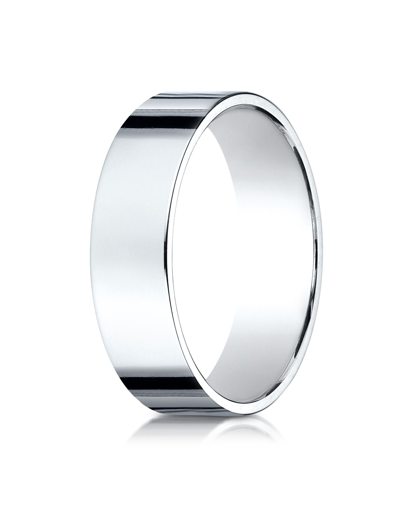 14k White Gold 6 Mm Traditional Flat Ring