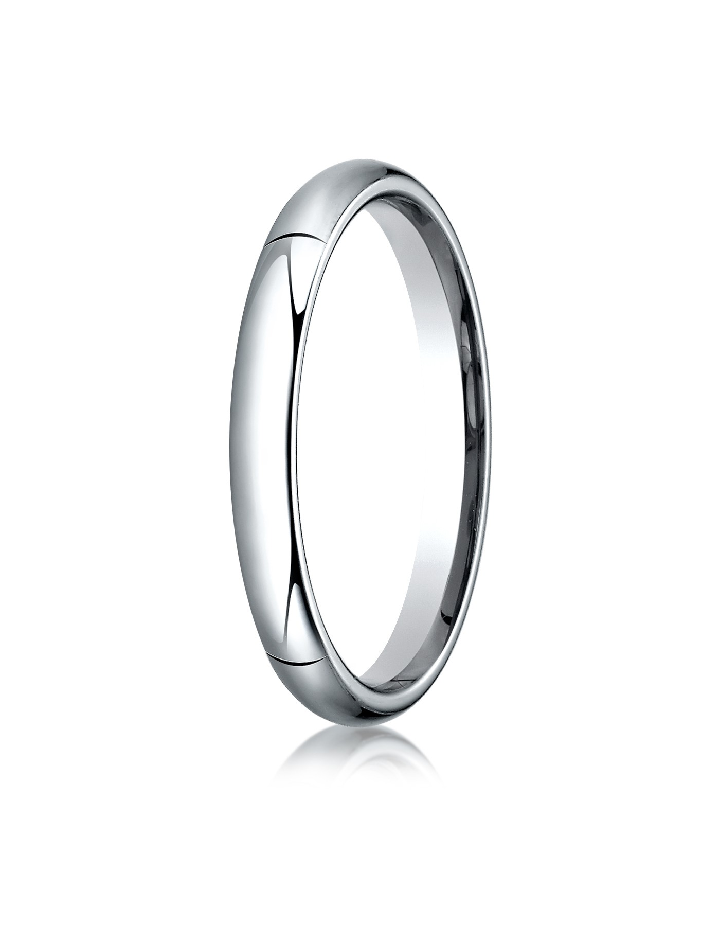 14k White Gold 3mm High Dome Comfort-fit Ring