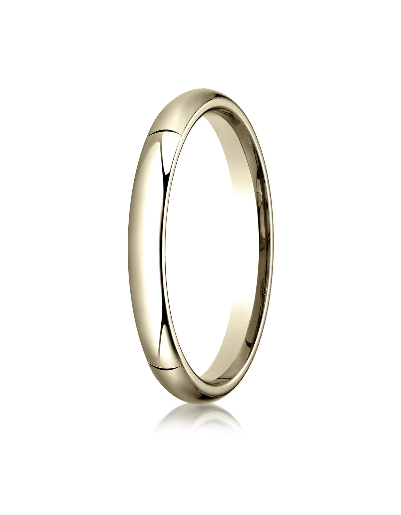 18k Yellow Gold 3mm High Dome Comfort-fit Ring