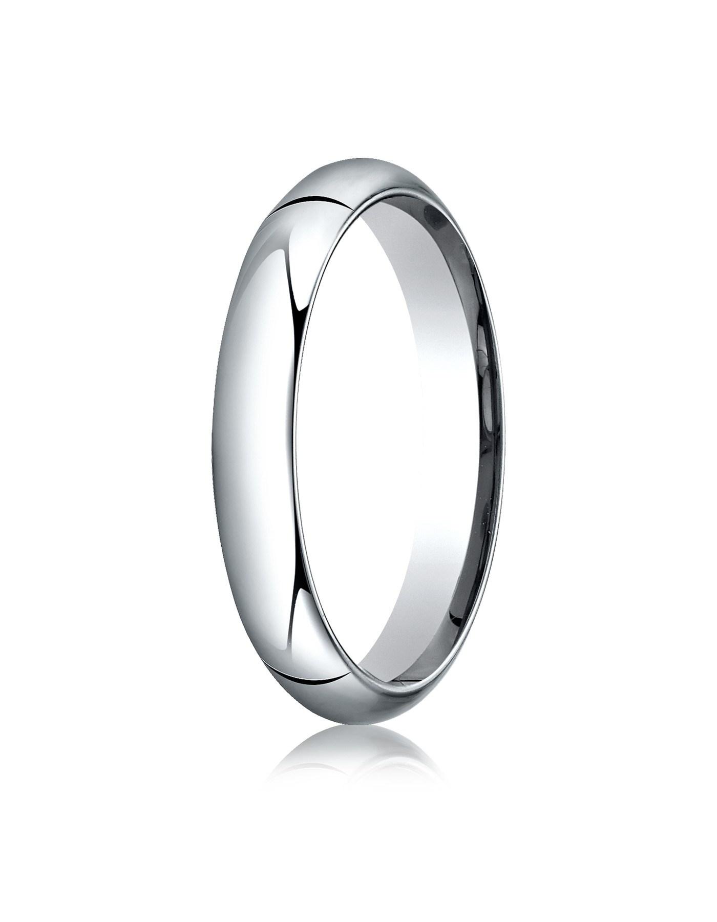 14k White Gold 4mm High Dome Comfort-fit Ring