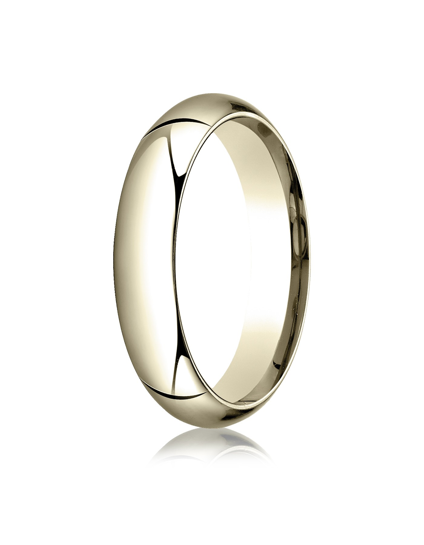 18k Yellow Gold 5mm High Dome Comfort-fit Ring