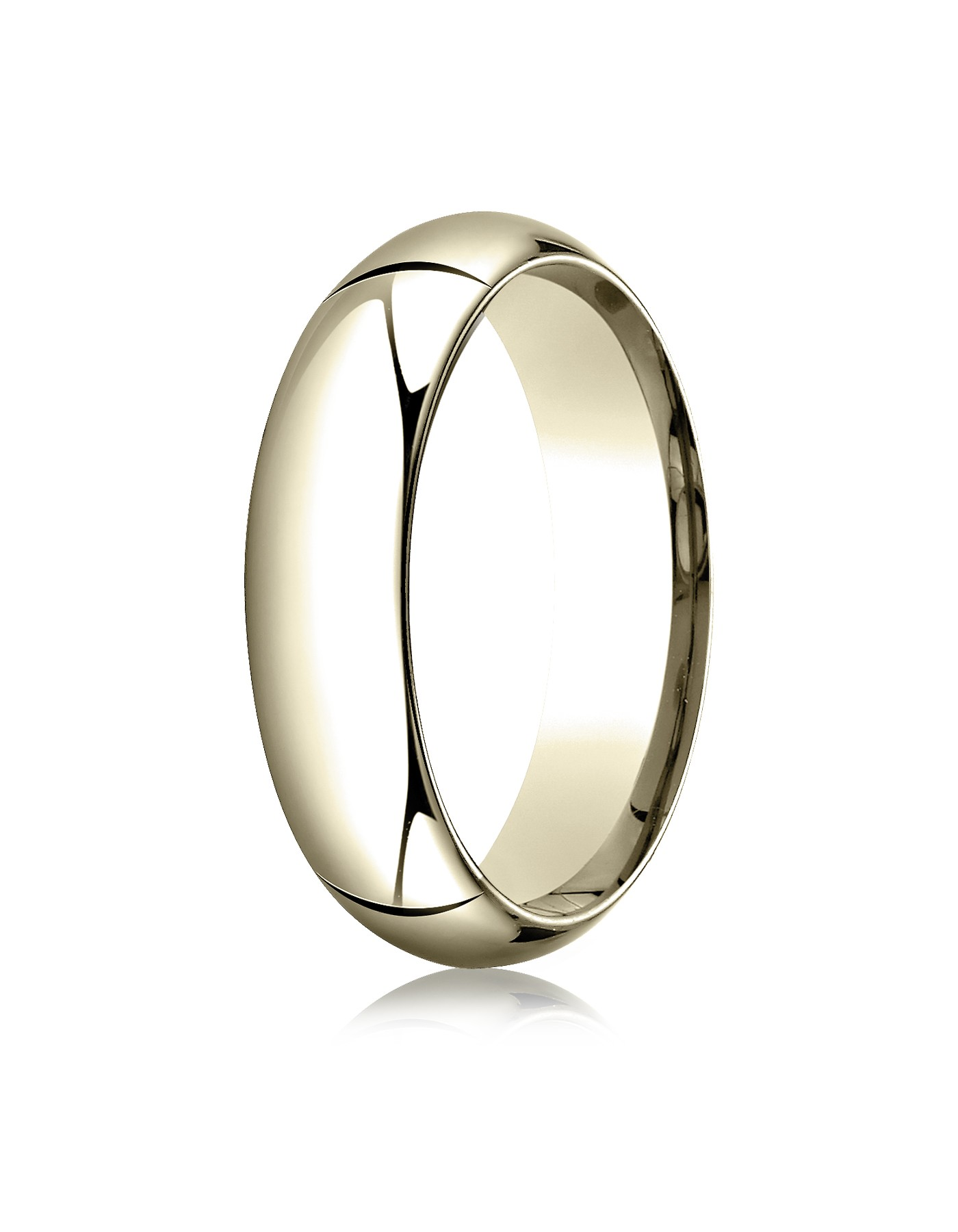 14k Yellow Gold 6mm High Dome Comfort-fit Ring