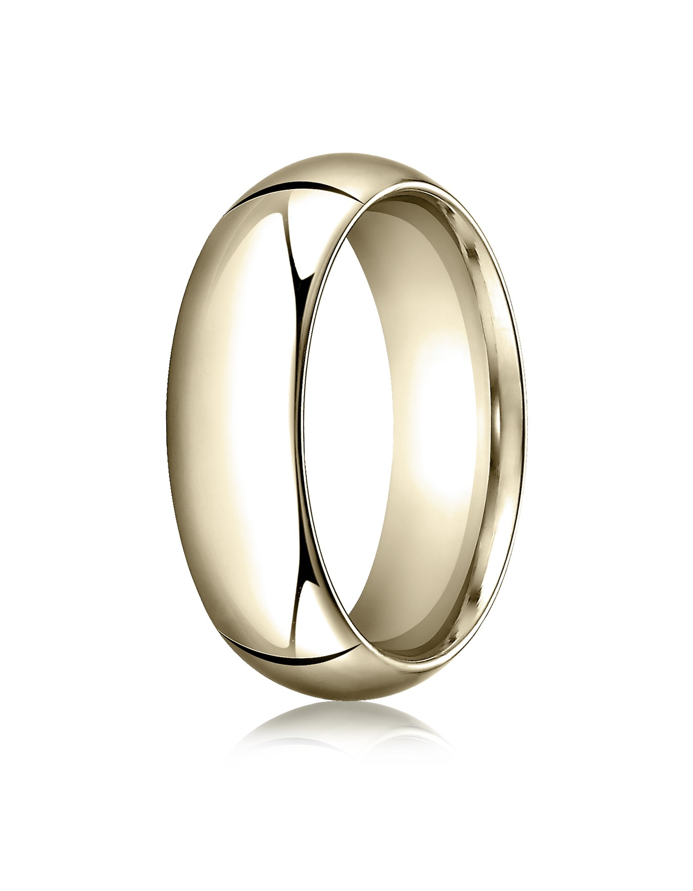 18k Yellow Gold 7mm High Dome Comfort-fit Ring