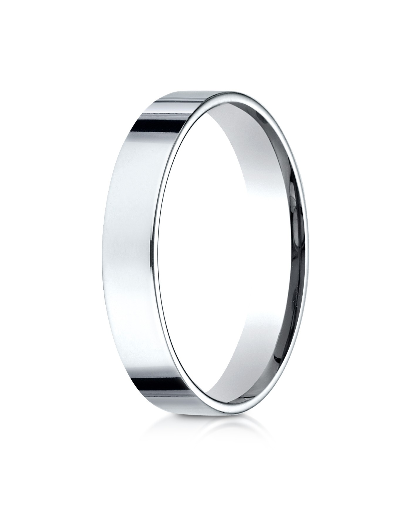 14k White Gold 4mm Flat Comfort-fit Ring