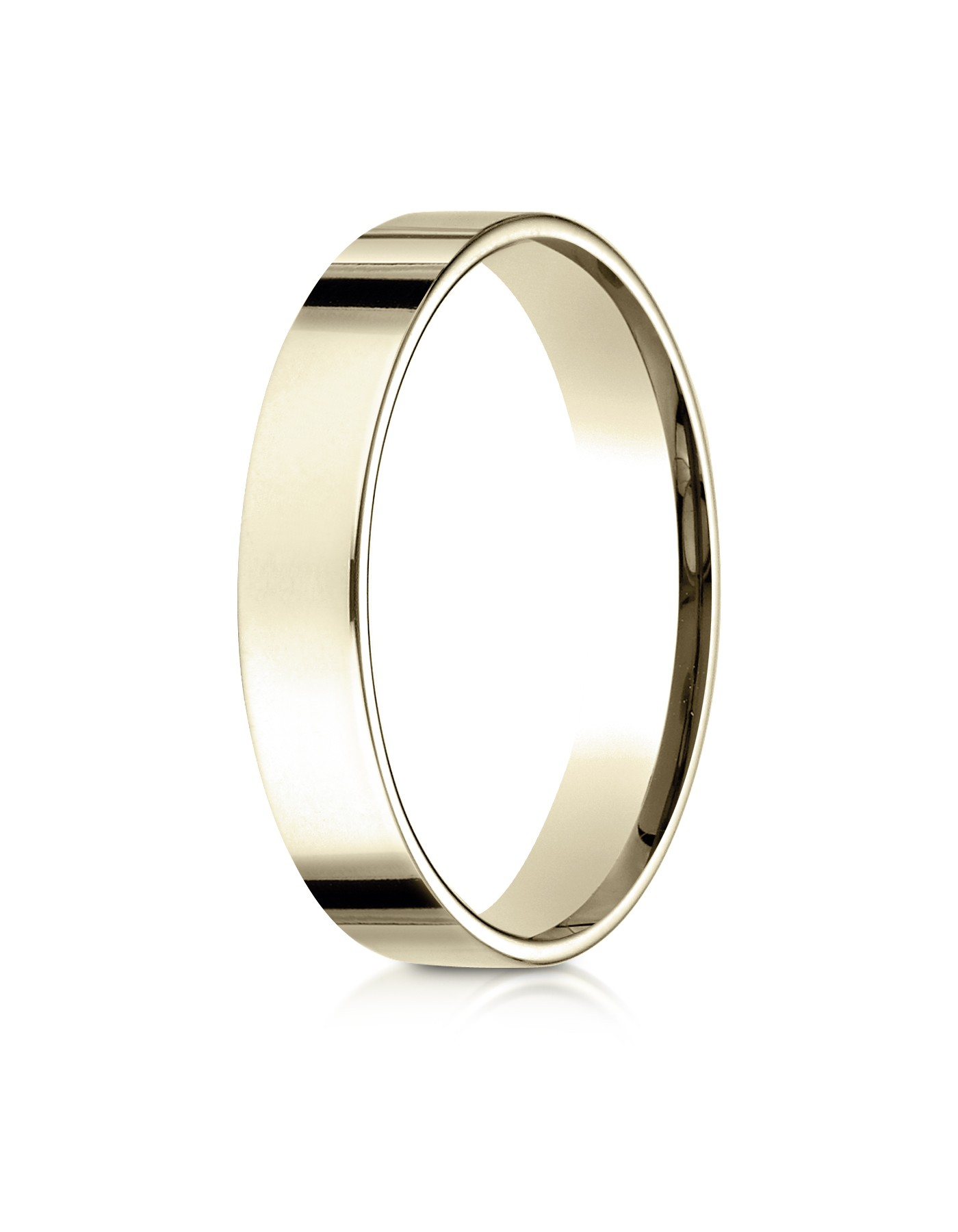 14k Yellow Gold 4mm Flat Comfort-fit Ring