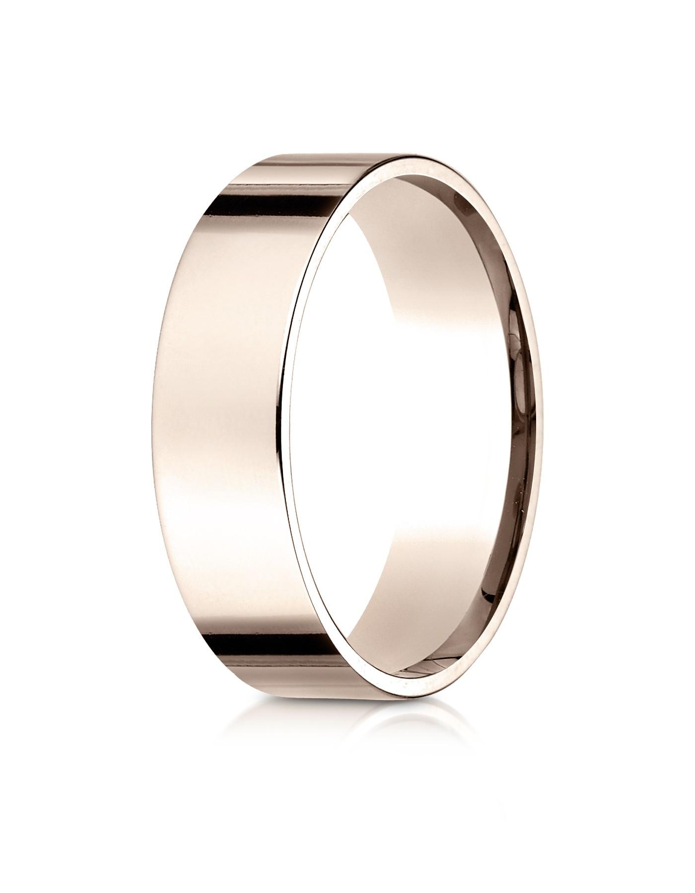14k Rose Gold 6mm Flat Comfort-fit Ring