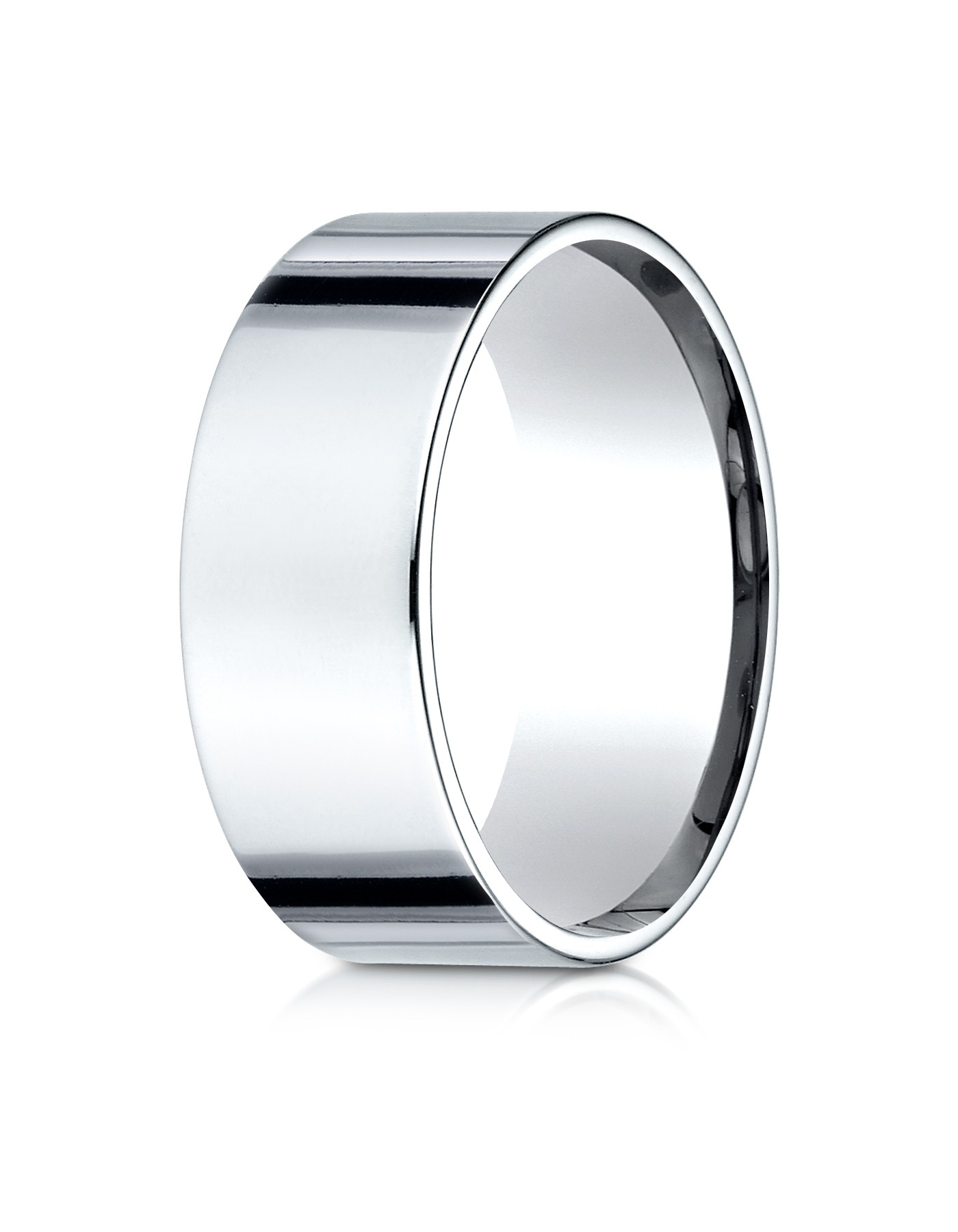 14k White Gold 8mm Flat Comfort-fit Ring