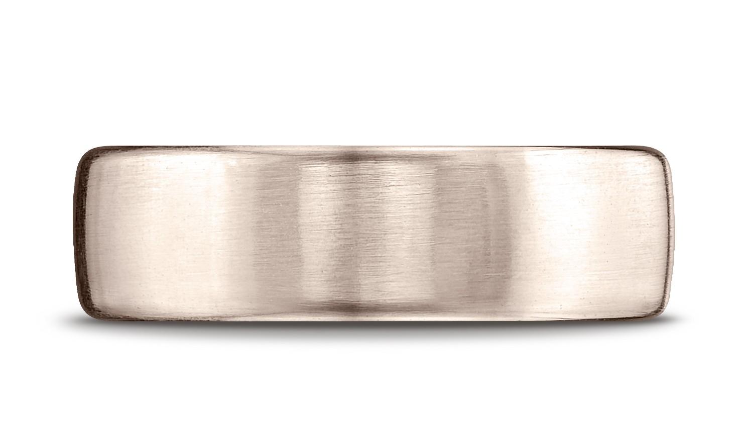 14k Rose Gold 7.5mm Comfort-fit Satin Finish Design Band