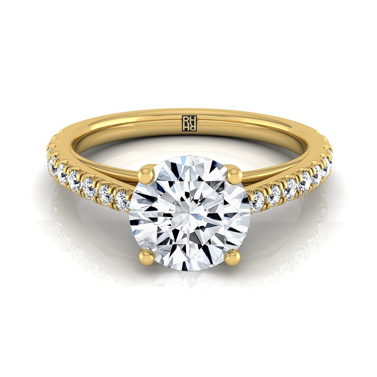 Classic 4 Prong Diamond Engagement Ring In 14k Yellow Gold (1/4 Ct.tw.)